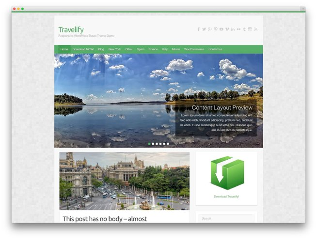 travelify - 旅行雑誌のテーマ