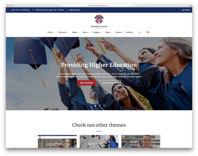 34 Best Free & Premium Education Website Templates 2020 – Avasta