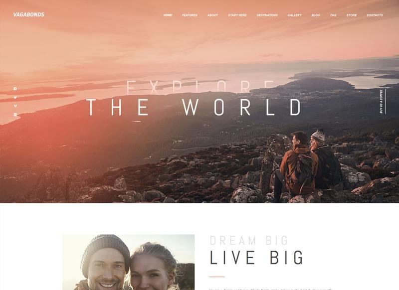 Vagabundos   Viajes personales y estilo de vida Blog WordPress Theme