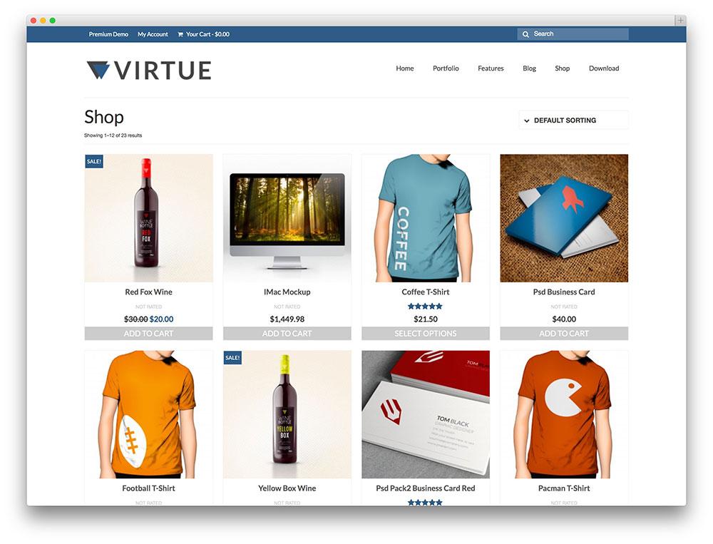 modelo de virtude eStore