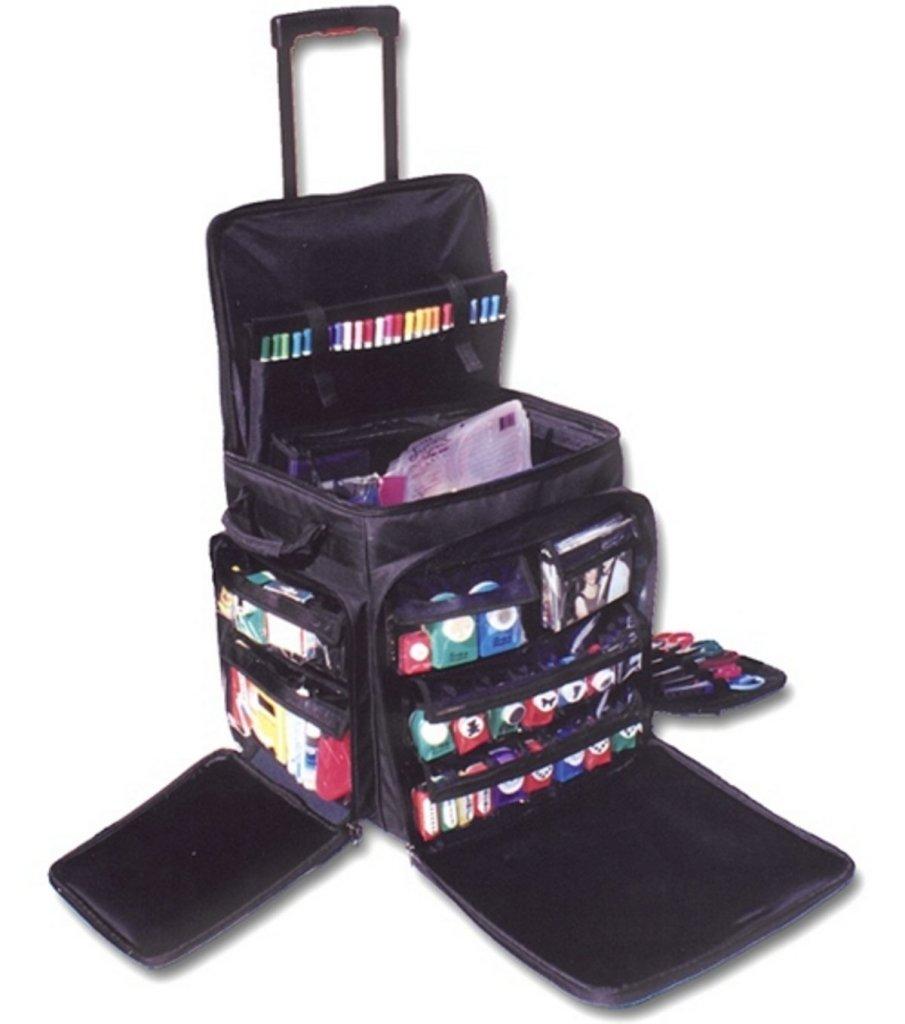 Travel art supplies, carrying case for art supplies, artist travel case