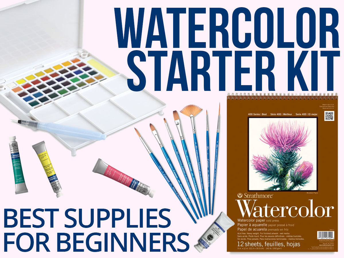 You're just getting started with watercolor painting but don't know where to begin when buying art supplies? It can be overwhelming to figure out the best watercolor paints, which watercolor paint brushes you need, and the best watercolor paper.