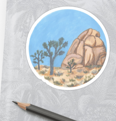 joshua tree national park stickers by shoshannah scribbles