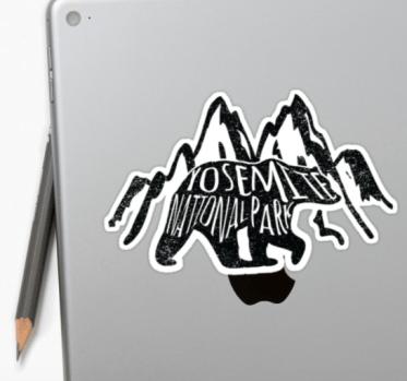 yosemite NP sticker by Heather
