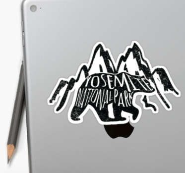 yosemite NP sticker by Heather