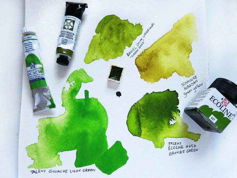 Compare Watercolor vs Gouache vs Liquid Watercolor