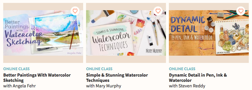 Take watercolor classes at Craftsy or Bluprint