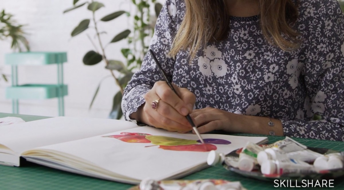 Best Online Gouache Classes: Gouache for Beginners: leah goren gouache