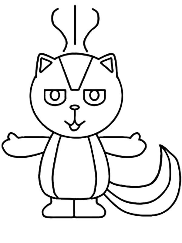 Skunk smell bad coloring page color luna, jesus loves me coloring page