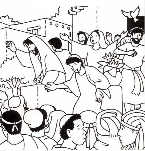Birthday Of The Church In Pentecost Coloring Page Color Luna