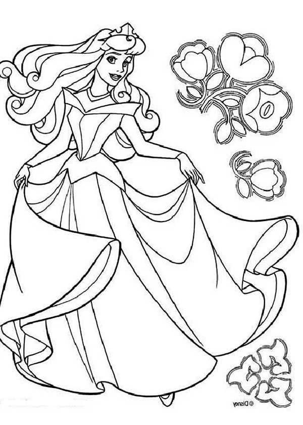 Disney Princess Aurora In Sleeping Beauty Coloring Page Color Luna