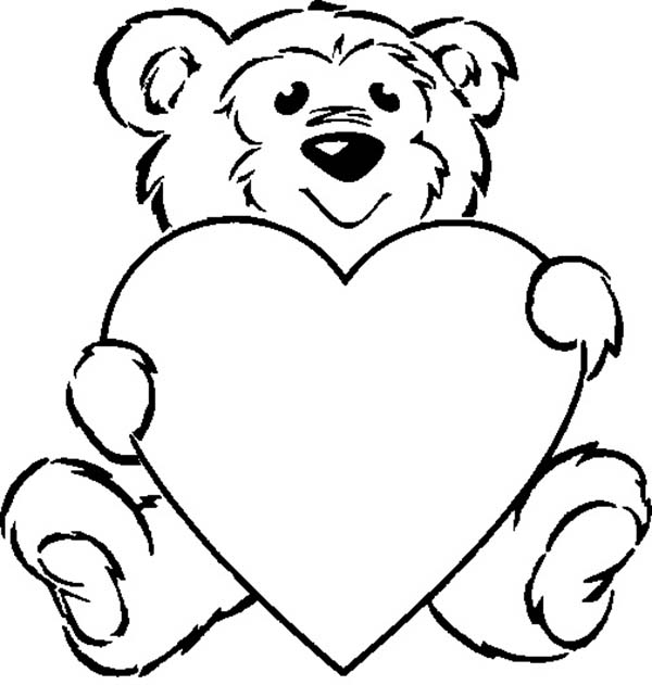 Taking Care Of Teddy Bear Coloring Page Color Luna