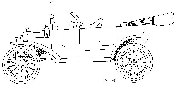 1915 Ford Model T Car Coloring Pages Color Luna