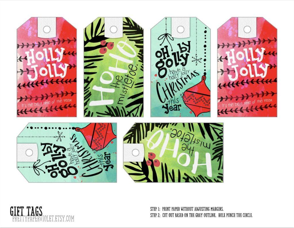 Free Printable Christmas Gift Tags Download • Color Made Happy
