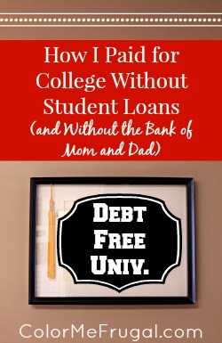 How I Paid for College Without Student Loans