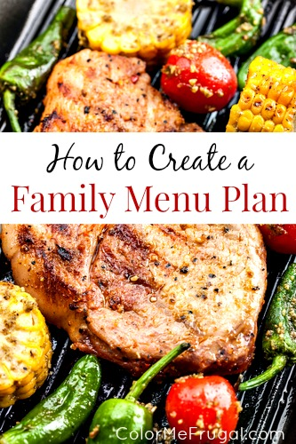 How to Create a Family Menu Plan