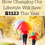 How Changing our Lifestyle Will Save $1123 in 2015