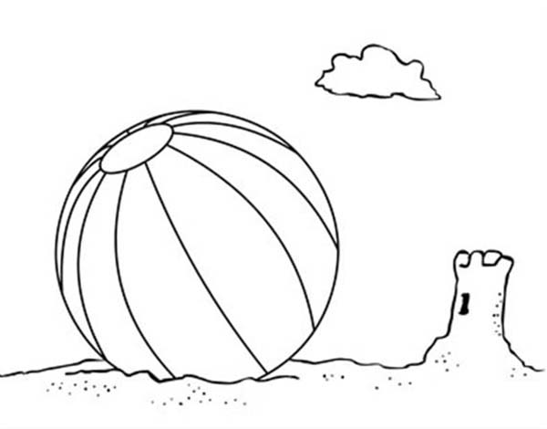 Lets Play With A Beach Ball Coloring Page Download