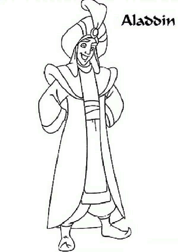 Aladdin In The Prince Dress Coloring Page Download
