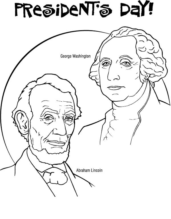 George Washington And Abraham Lincoln For Presidents Day Coloring Page Download Print Online Coloring Pages For Free Color Nimbus