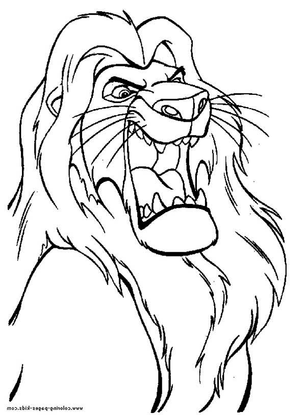 Mufasa The Great The Lion King Coloring Page Download