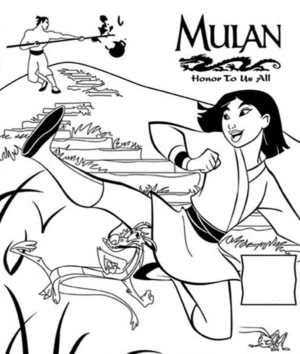Mulan Movie Poster Honor To Us All Coloring Page Download Print Online Coloring Pages For Free Color Nimbus