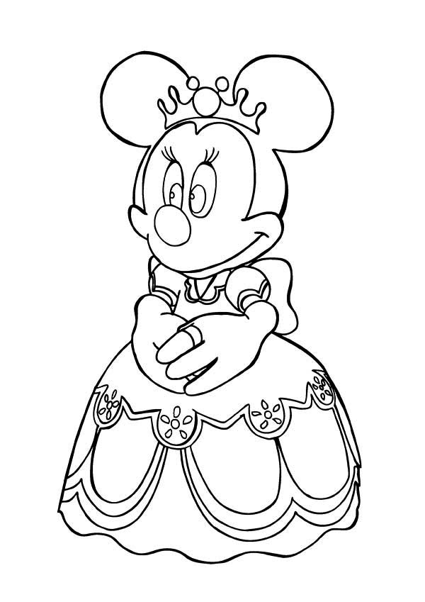 Princess Minnie Mouse Coloring Page Download Print Online Coloring Pages For Free Color Nimbus