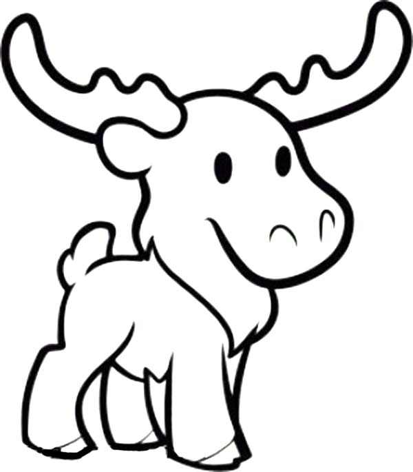 moose coloring page # 10