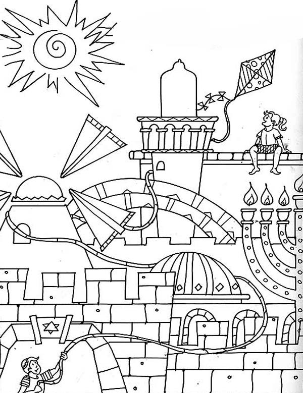 jerusalem in purim day coloring page  download & print