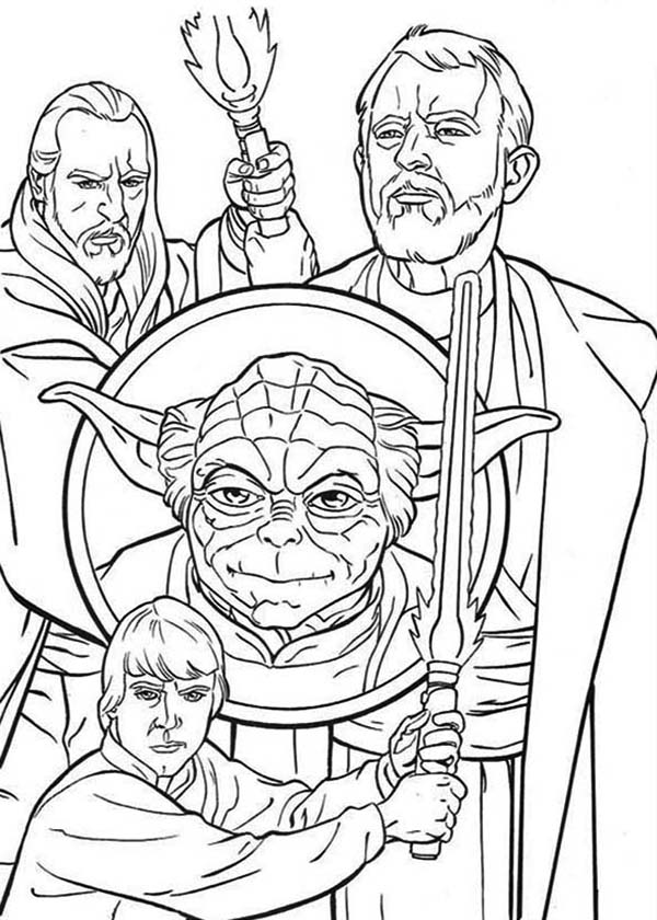 How To Draw The Star Wars Characters Coloring Page