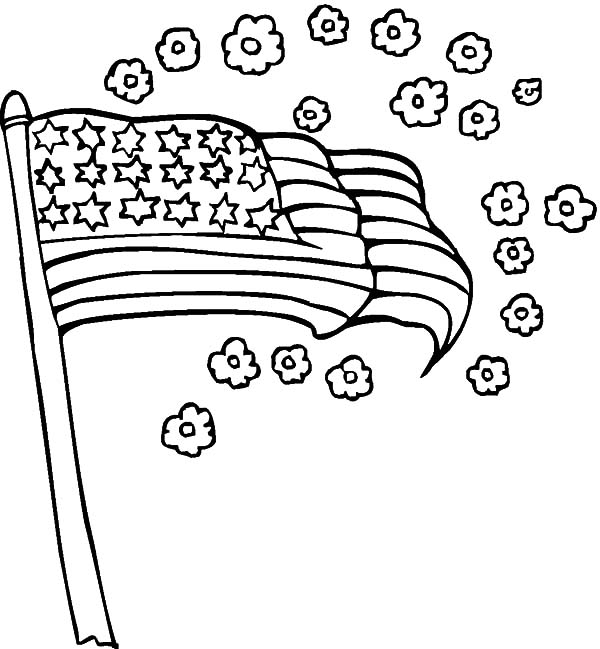 american flag smell of flower for independence day