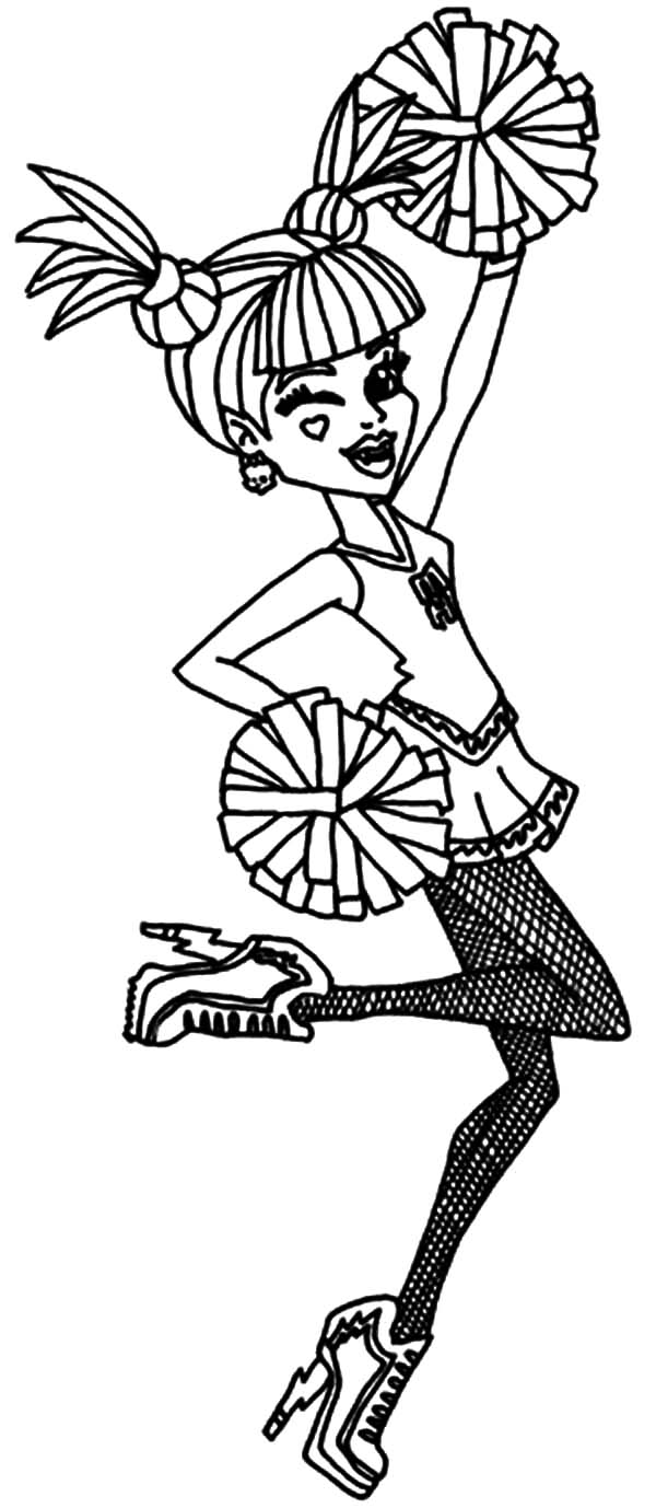 Ever After High Cheerleader Coloring Pages - Download & Print