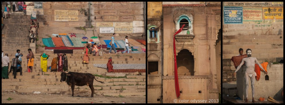 Colors of India : Ghats of Varanasi and the rivers Ganges & Yamuna