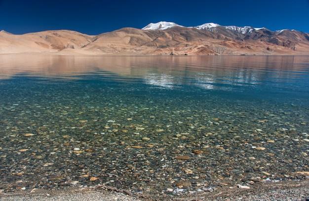 Crystal clear waters of Tso Moriri