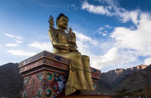 Maitreya Buddha statue at Likir Monastery