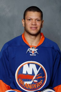 Kyle Okposo awaits birth of first child and berth on U.S. Olympic hockey team.