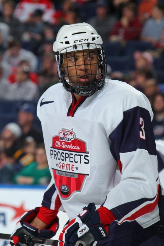 Potential No. 1 draft pick Seth Jones (Photo by USA Hockey)