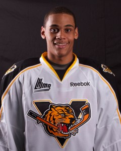 Jonathan-Ismael Diaby  may someday  join Seth Jones on Nashville's blue line. But not now. (Photo by Victoriaville Tigres)