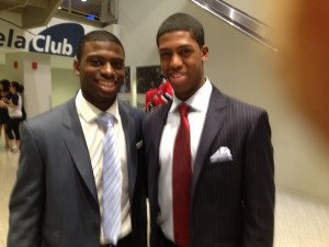 Freshly-minted draftees Jordan Subban of the Vancouver Canucks (left) and Anthony Duclair of the New York Rangers.