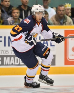 Skillz Black Aces alum Cordell James with Barrie Colts (Terry Wilson Photography)