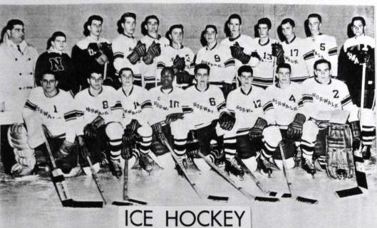 Brittain and Norwalk High School hockey team circa 1962.