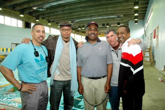 Jim Ellis (center) and actor Terrence Howard (second left) in Philadelphia (Photo: Marissa J. Weekes).
