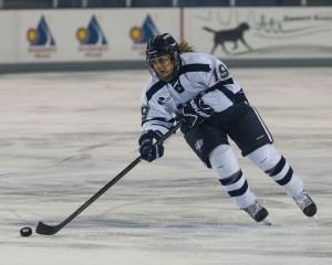 U of New Hampshire's Cassandra Vilgrain learned hockey from dad, ex-NHLer Claude Vilgrain.