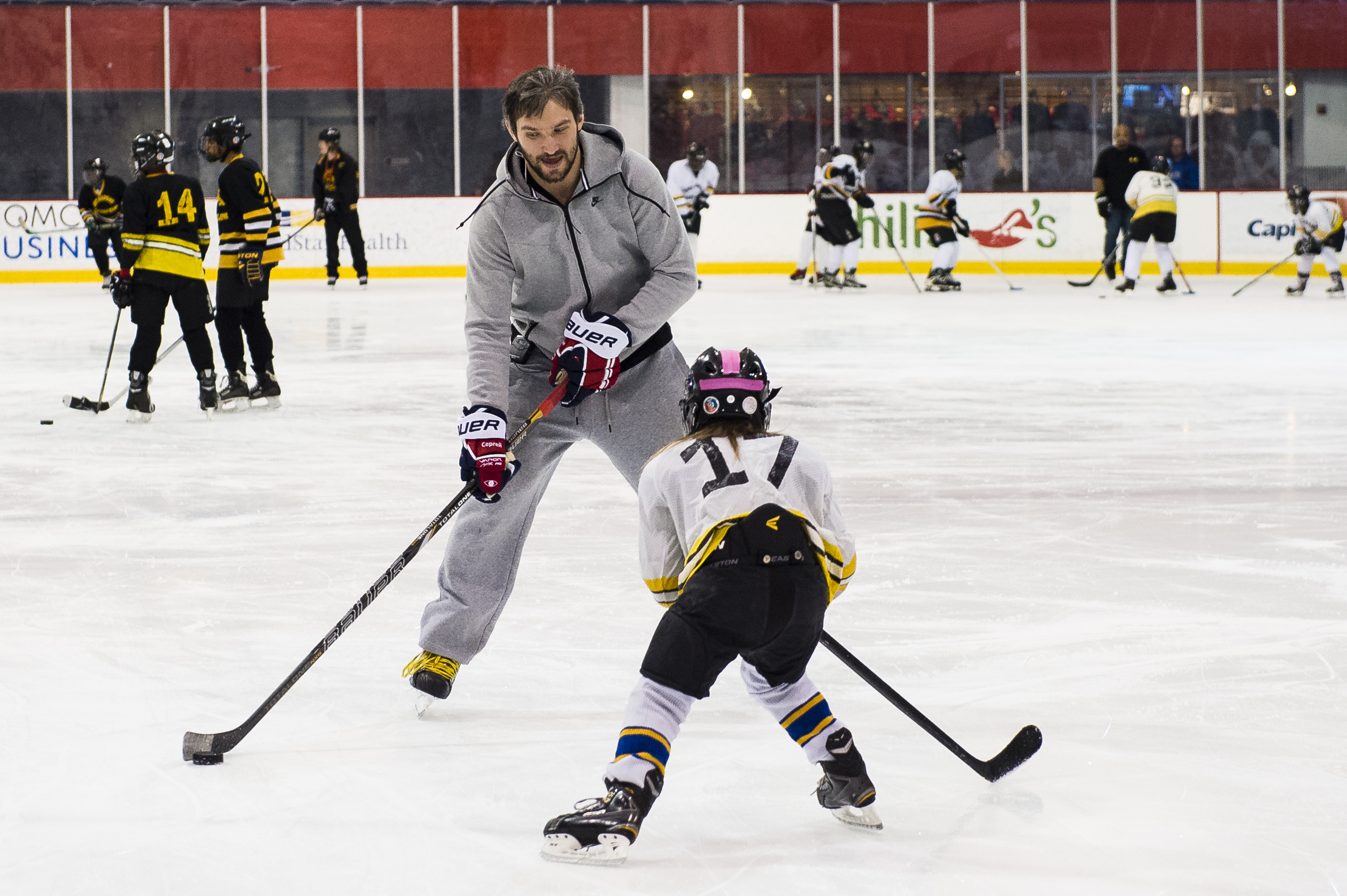 7c4a713b720 Alex Ovechkin shows Fort Dupont player how NHL defenders feel  (Photo Patrick McDermott)
