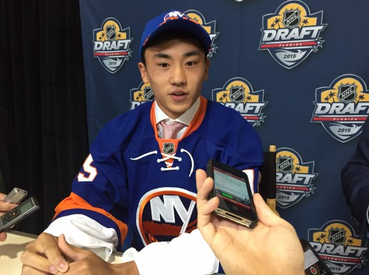 China's Andong Song made hockey history at the 2015 NHL Draft.