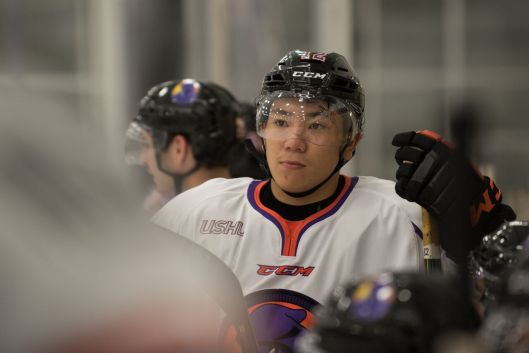 Yushiro Hirano's decision to relocate from Japan to Ohio to play hockey might pay off at June's NHL Draft (Photo/Bill Paterson).