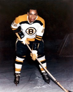 Willie O'Ree, back in the day.