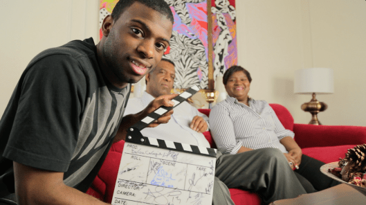 Vancouver Canucks defensive prospect Jordan Subban prepares parents Karl and Maria for their close-ups in