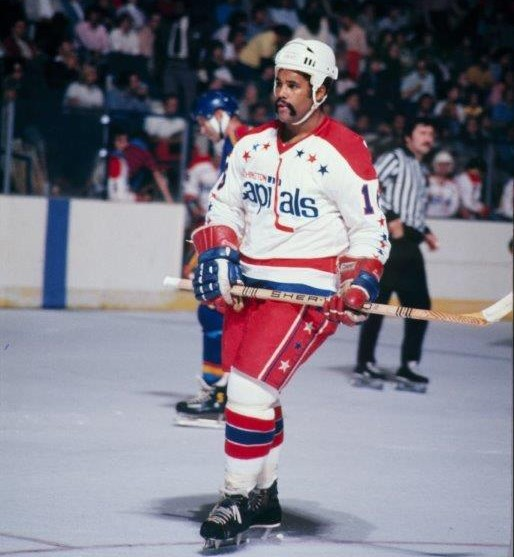 Forward Mike Marson scored 16 goals for a Washington Capitals team that went 8-67-5 in its first NHL season in 1974-75 (Photo/Washington Capitals archives).