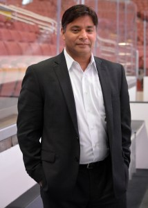 Anaheim Ducks' new goalie coach Sudarshan Maharaj.